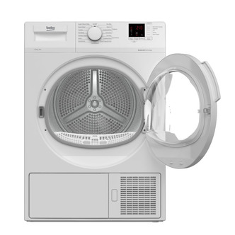 Image of Beko DTLP81141W 8kg Heat Pump Condenser Dryer in White A Rated