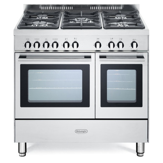 Image of Delonghi DTR906G Professional 90cm Twin Cavity Gas Range Cooker in St