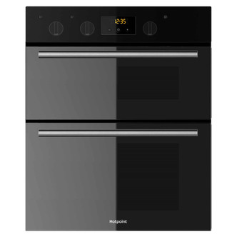 Image of Hotpoint DU2540BL 60cm Built Under Double Electric Fan Oven in Black