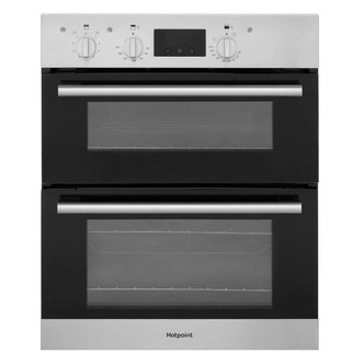Image of Hotpoint DU2540IX 60cm Built Under Double Electric Fan Oven in St Stee