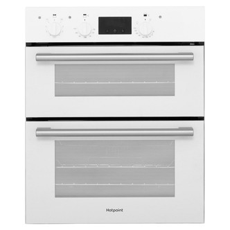 Image of Hotpoint DU2540WH 60cm Built Under Double Electric Fan Oven in White