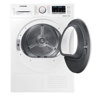Image of Samsung DV80M50101W 8kg Heat Pump Condenser Dryer in White A Smart Che