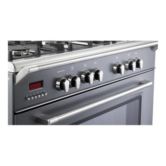 Image of Delonghi DVRS916DFSL Vintage 90cm Single Cavity D Fuel Range Cooker Sl