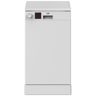 Image of Beko DVS05C20W 45cm Slimline Dishwasher in White 10 Place Setting A