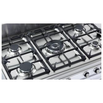 Image of Delonghi DVTR906DFSS Vintage 90cm Twin Cavity Dual Fuel Range Cooker S