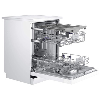 Samsung DW60M6050FW 60cm Dishwasher in White 14 Place Setting E Rated