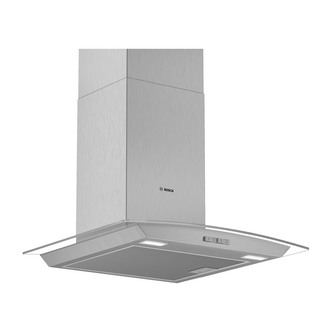 Image of Bosch DWA64BC50B Serie 2 60cm Curved Glass Chimney Hood in Brushed Ste