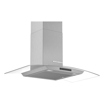 Image of Bosch DWA96DM50B Serie 4 90cm Curved Glass Chimney Hood in Brushed Ste