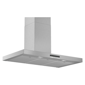 Image of Bosch DWB96DM50B Serie 4 90cm Bevelled Box Chimney Hood in Brushed Ste