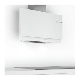 Image of Bosch DWF97KR20B Serie 6 90cm H C Slim Flat Glass Wall Hood in White