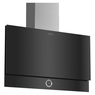 Image of Bosch DWF97RV60B Serie 8 90cm H C Slim Flat Glass Wall Hood in Black