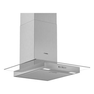 Image of Bosch DWG64BC50B Serie 2 60cm Flat Glass Chimney Hood in Stainless Ste