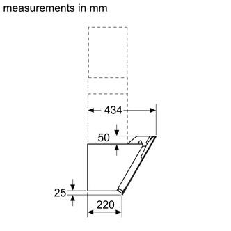 Image of Bosch DWK67EM60B Serie 2 60cm Angled Chimney Hood in Black Glass
