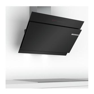 Image of Bosch DWK97JQ60B Serie 6 90cm Angled Chimney Hood in Black Glass