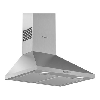Image of Bosch DWP64BC50B Serie 2 60cm Pyramid Design Hood Brushed Steel