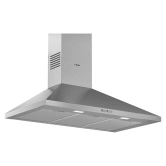 Image of Bosch DWP94BC50B Serie 2 90cm Pyramid Design Hood Brushed Steel