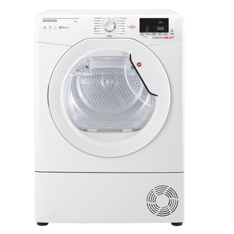 Image of Hoover DXC8DE 8kg Condenser Tumble Dryer in White Sensor B Energy