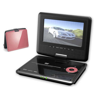 Akai DXP701DT PI 7 LED Portable DVD Player with TV Tuner PINK