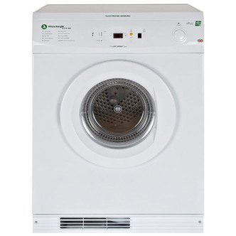 White Knight ECO86AW 7kg Gas Tumble Dryer in White Sensor Drying