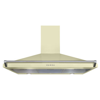 CDA ECR90CM 90cm Chimney Hood in Cream 3 Speed Fan