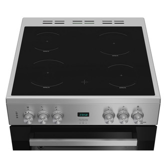 Image of Beko EDC633S 60cm Electric Cooker in Silver Double Oven Ceramic Hob