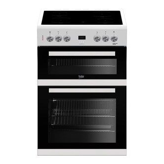 Image of Beko EDC633W 60cm Electric Cooker in White Double Oven Ceramic Hob