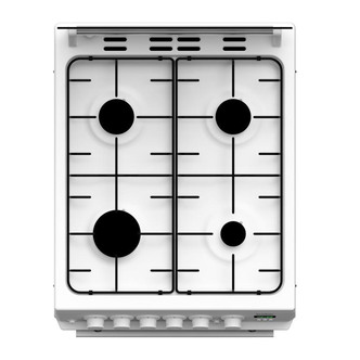 Image of Beko EDG506W 50cm Twin Cavity Gas Cooker in White