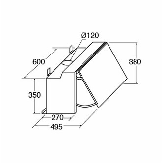 Image of CDA EIN60FSI 60cm Integrated Hood in Silver 3 Speed Fan LED Light