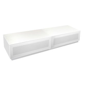 Alphason EMTMOD1700WH Element High Gloss TV Cabinet 1700mm Wide in Whi