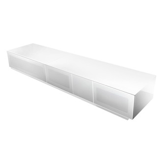 Alphason EMTMOD2100WH Element High Gloss TV Cabinet 2100mm Wide in Whi