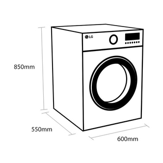 LG F4V308WNW Washing Machine in White 1400rpm 8kg C Rated