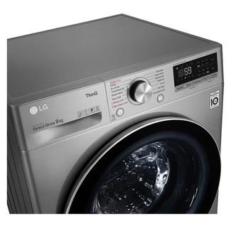 LG F4V709STSE Washing Machine in Graphite 1400rpm 9kg B Rated ThinQ