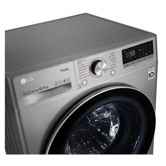 LG F4V710STSE Washing Machine Graphite 1400rpm 10 5kg B Rated ThinQ