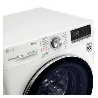 LG F4V710WTSE Washing Machine in White 1400rpm 10 5kg B Rated ThinQ