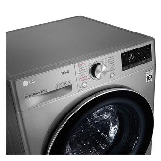 LG F4V712STSE Washing Machine in Graphite 1400rpm 12kg B Rated ThinQ