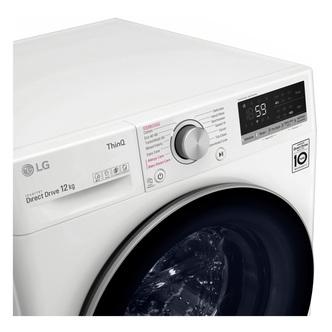 LG F4V712WTSE Washing Machine in White 1400rpm 12kg B Rated ThinQ