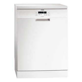 Image of AEG F56303W0 60cm Dishwasher in White 13 Place Settings A Rated