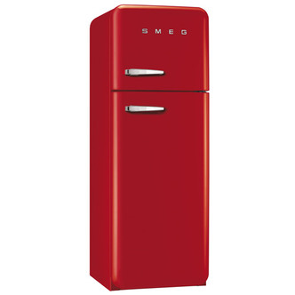 Fridge Freezers Smeg FAB30RFR 60cm Retro FAB Right Hand Hinge Fridge Freezer in Red