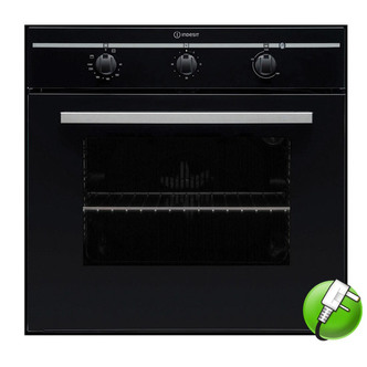 Indesit FIM31KABK Built In Single Electric Oven in Black 56L A Rated
