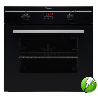 Indesit FIM33KABK Built In Single Oven in Black 56L A Rated