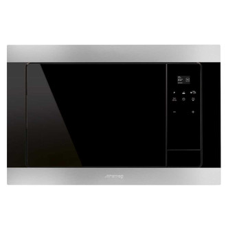 Smeg FMI320X 60cm Classi Built In Microwave Oven with Grill St Steel
