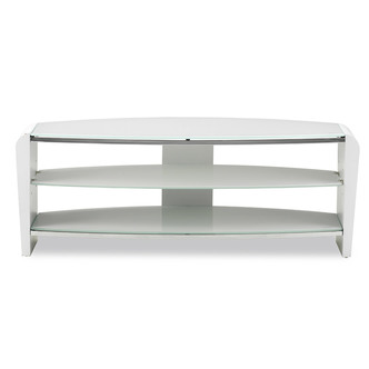 Alphason FRN1100ARCT Francium TV Cabinet 1100mm Wide in White White Gl