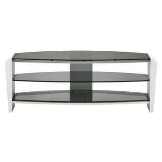 Alphason FRN14003WHSK Francium TV Cabinet 1400mm Wide in White Black G