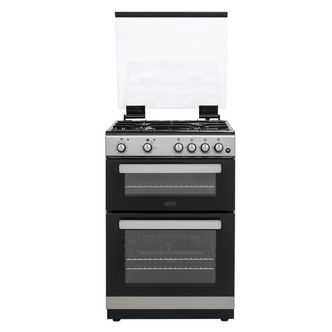 Image of Belling FSDF608DSIL 60cm Dual Fuel Cooker in Silver Double Oven