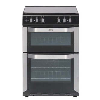 Belling FSDF60DO SS 60cm Dual Fuel Cooker in Stainless Steel Double Ov