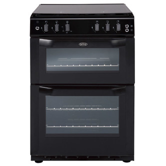Belling 444442712 55cm Gas Cooker in Black Twin Cavity FSD