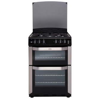 Belling FSG55TCF STA 55cm Gas Cooker in Stainless Steel Twin Cavity FS