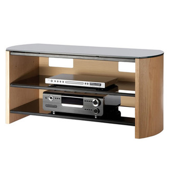 Compare retail prices of Alphason FW1100 LOB Finewoods TV Cabinet 1100mm Wide in Light Oak to get the best deal online