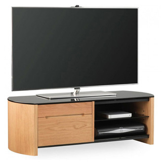 Alphason FW1100CB LO Finewoods TV Cabinet with Storage 1100mm in Light