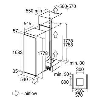 CDA FW821 55cm Integrated Larder Fridge 1 77m A Rated